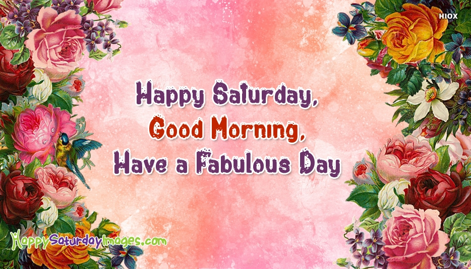 Happy Saturday, Good Morning, Have A Fabulous Day
