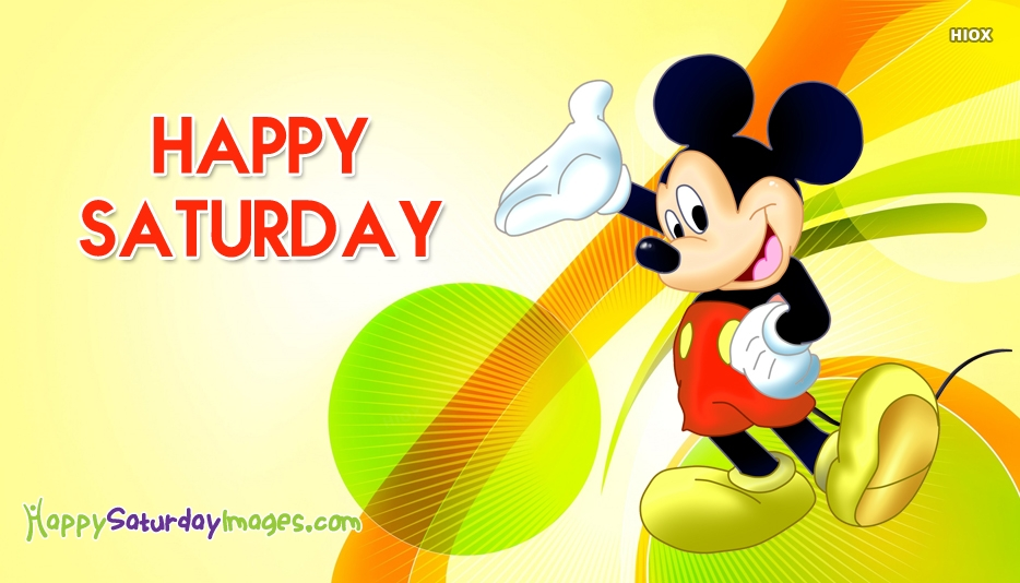 Happy Saturday Cartoon Images, Pictures