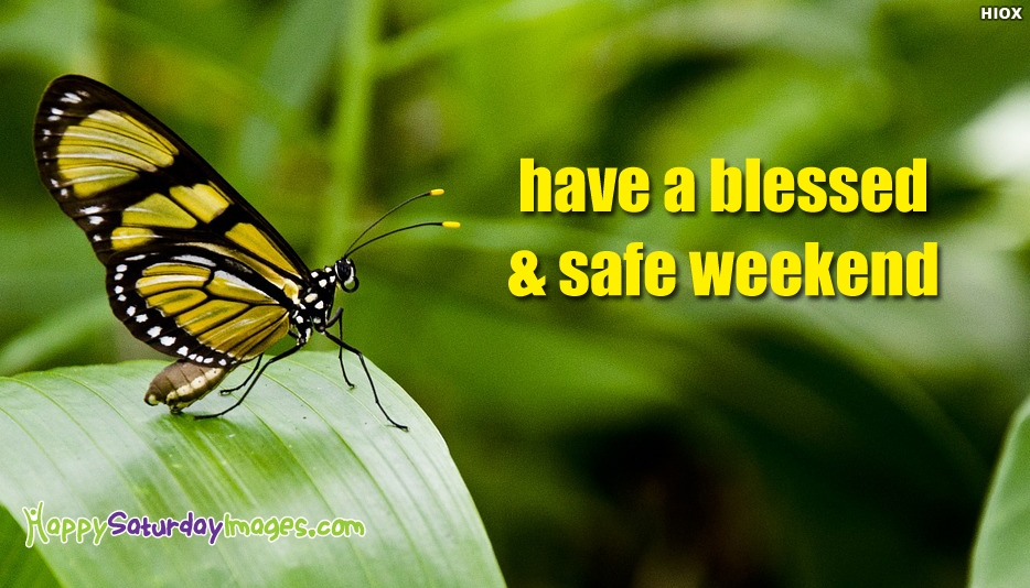 Have A Blessed and Safe Weekend - Happy Saturday Images for Weekend