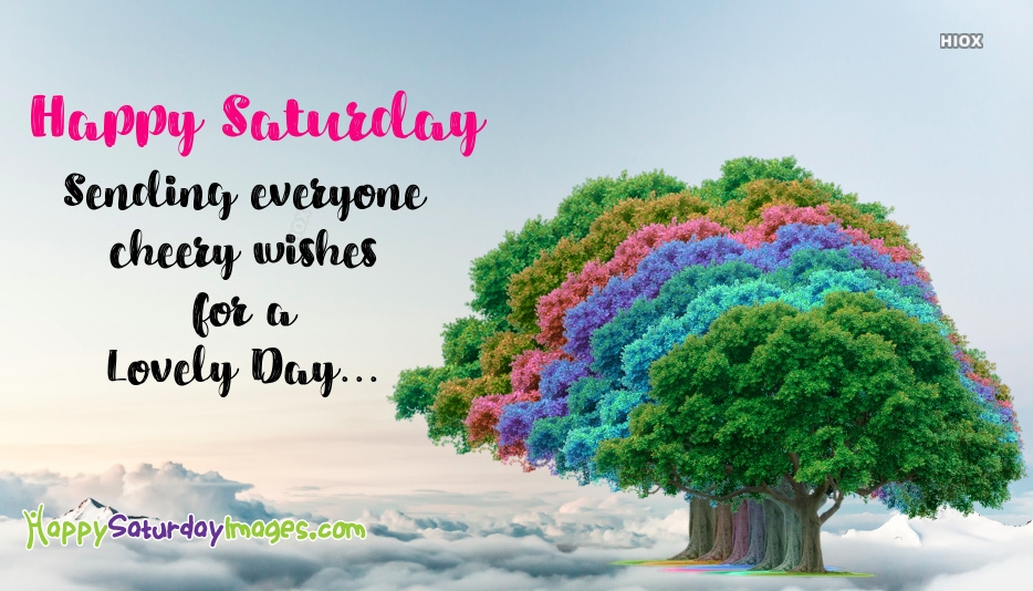 Colorful Happy Saturday Images
