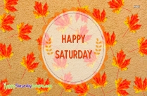 Happy Saturday Autumn