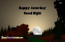 Happy Saturday Good Night Images