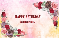 Happy Saturday Gorgeous