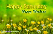 Happy Saturday Happy Weekend
