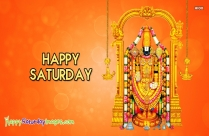 Happy Saturday Lord Venkateswara