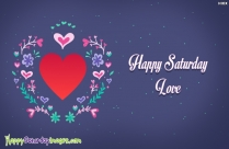 good morning happy saturday my love