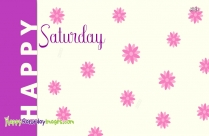 Happy Saturday Purple Image