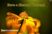 Have A Blessed Weekend Images