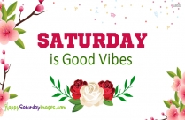Saturday Is Good Vibes