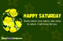 Happy Saturday Everyone Quote